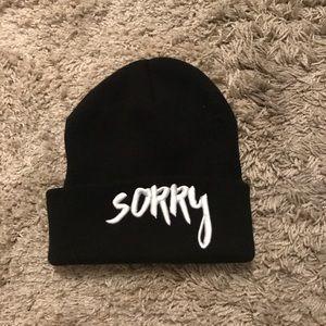 Justin Bieber sorry black beanie